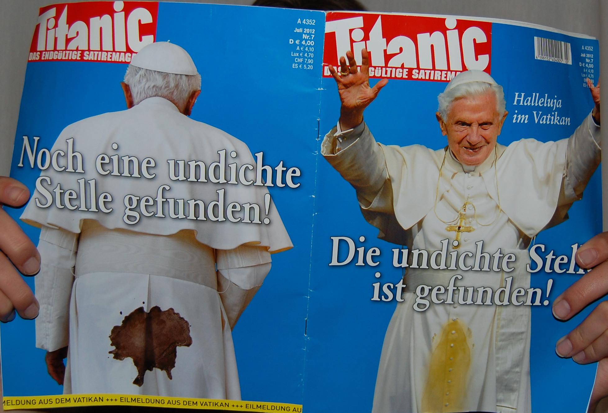 Unheiliger Stuhl Papst Geht Gegen Satiremagazin Titanic Vor